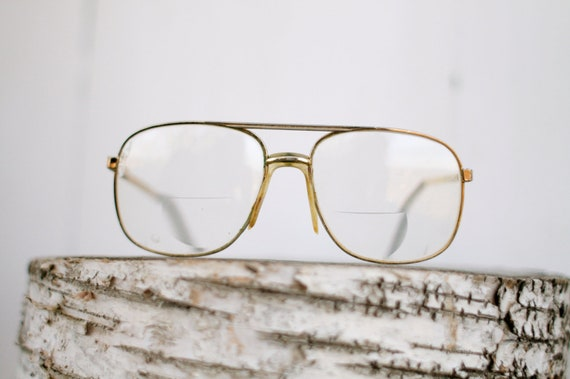 Old Man Glasses Frame : Vintage Gold Metal Frame Old Man Hipster by TallowBalmbyJill