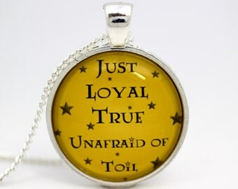 Harry Potter Hufflepuff Personality Glass Necklace