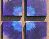 Tie-Dyed Acrylic Painting (4 Pieces)