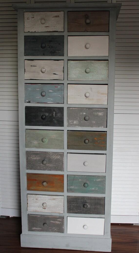 Vintage Looking Rustic Coastal Shabby Chic Beach Cabinet 20