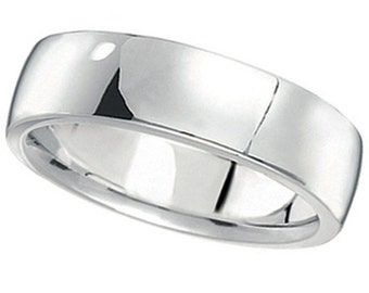 6mm Palladium Wedding Ring Mens Plain Band Comfort Fit