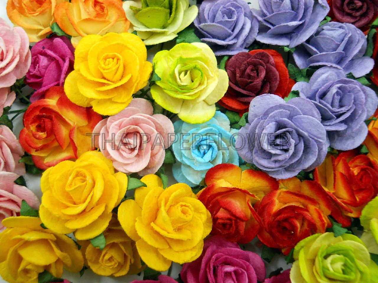 How to scrapbook at home - 100 Rainbow Mulberry Paper Flower Scrapbook Card Making Home Decor Craft Supply Roses 6 427