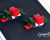 RESERVED LISTING  - Bow Rose Clip