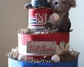 All Star Baseball Diaper Cake