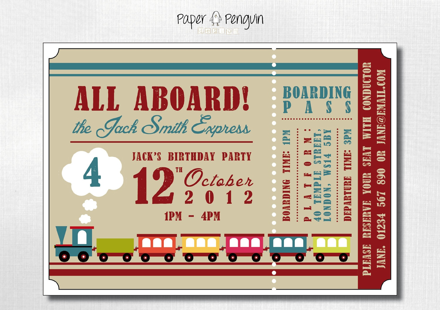 Thomas The Train Invitations Personalized for best invitations sample