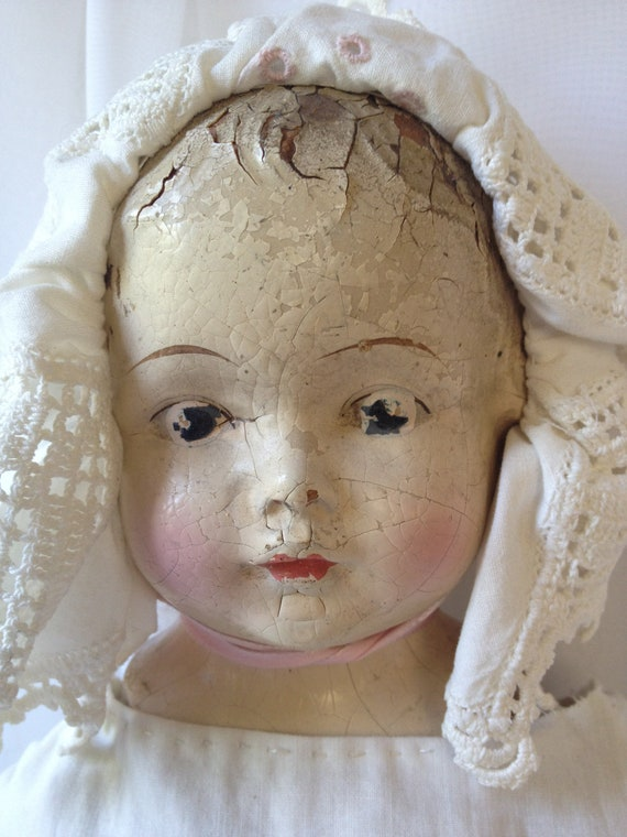 Century Doll Baby Head with Bonnet
