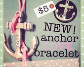 Anchor  Love Bracelet