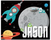 Personalized Outer Space Alien Puzzle - Gifts for Boys, Personalized Puzzles for Kids, Kids Personalized Puzzle, Kids Gifts