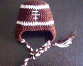Baby Football Hat with Earflaps