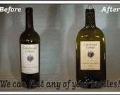 CUSTOM ORDER - Any of Your bottle as Slumped Melted Flattened Flat bottle, elegant cheese tray, spoon rest, great eco gift