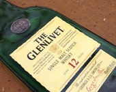 The Glenlivet 12 Year Single Malt Scotch Whisky Whiskey Slumped Melted Flattened Flat Bottle Cheese Tray Spoon Rest Glass Plate Eco Gift
