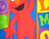 Sesame Street Elmo Blocks Fleece Panel Throw Blanket