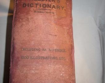 Webster's Dictionary, 1897 Rare Vintage