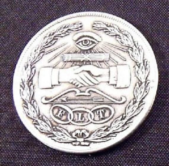 Vintage Made An Odd Fellow Flt Medallion Token