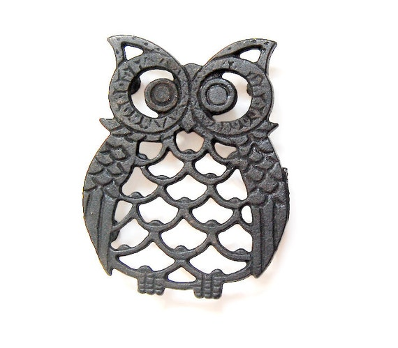 Owl Decor / Owl Kitchen / Owl Trivet / Vintage Owl / 80s
