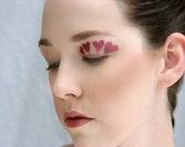 Makeup stencil/ Make-up stencil/ Halloween/ hearts/ avant garde/ heart/ Valentine