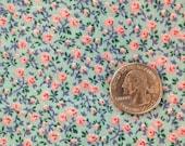 Vintage blue calico fabric