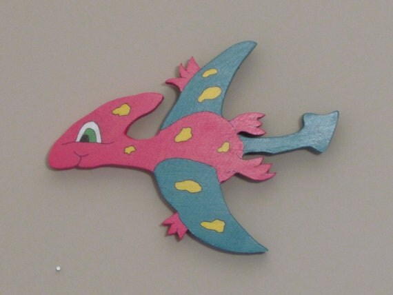 Wall Hangers - Large Baby Pterodactyl Flying Dinosaur
