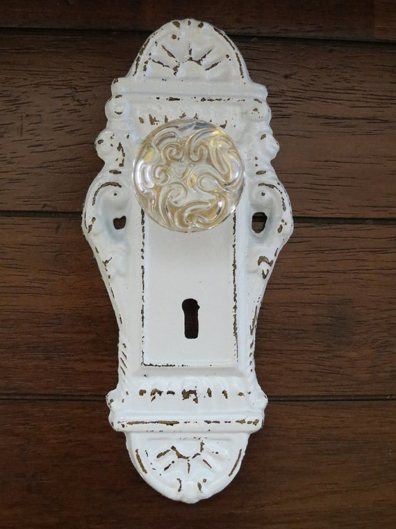 How To Change A Door Knob >> Wall Hook/Shabby Chic Hook/Door Knob Decor/Pale Blue or Pick