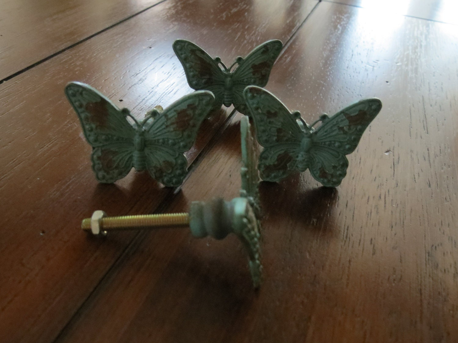 Butterfly Knobs/ Butterfly Drawer Knobs / Drawer Pulls/ Shabby