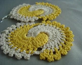 Double Swril Crochet Earrings