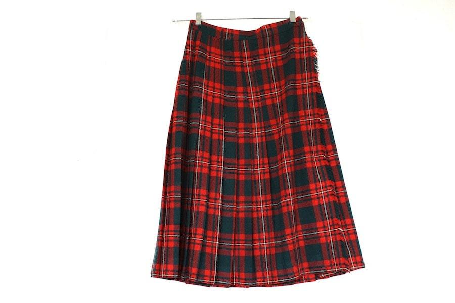 c5303421f5 Plaid Skirt Vintage Tartan Kilt 1970s on Etsy