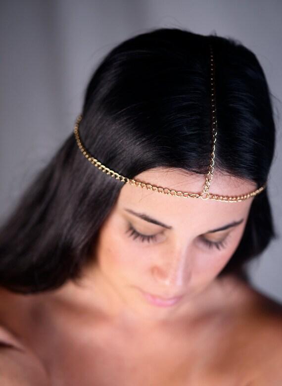 Simple Head Chain. Gold or Silver Chain.