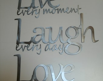 Love wall decor roselawnlutheran for Live laugh love wall art