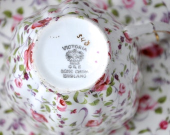 Chintz China Teacup by C&E Bone China