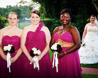 Ivory Burgundy Wedding Bouquet, Ivory Burgundy Bridal Bouquet, Burgundy Bouquet, Burgundy Rose Bouquet, Burgundy Bridesmaid