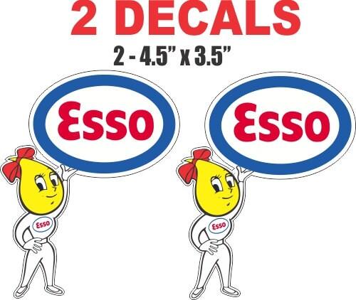 Vintage Esso Oil Can 2 Vintage Esso Oil Drop Girl