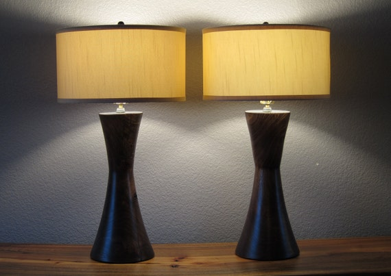 solid wood mid century modern lamps