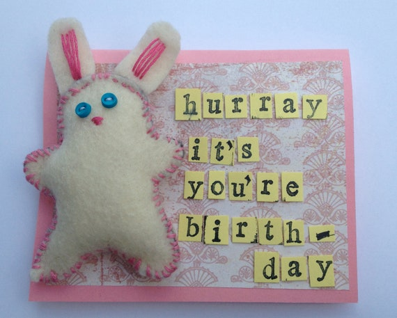 Hurray It's Your Birthday - bunny card