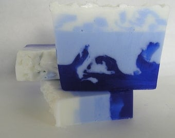 Ocean Breeze - Glycerin Soap - Blue and White Soap
