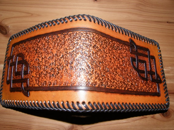 Hand Tooled Leather Celtic Wallet