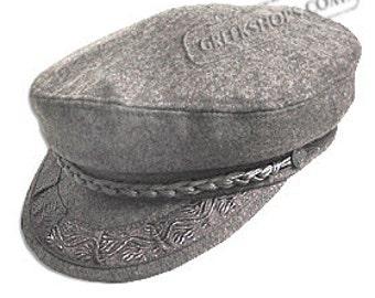 Greek Fisherman's Hat - Wool - Grey
