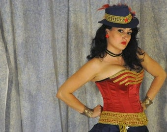 Steampunk Wonder Woman Cosplay Costume: Ready to Wear