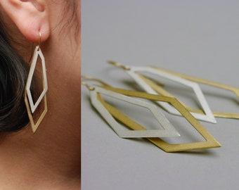Two shape geometric earings
