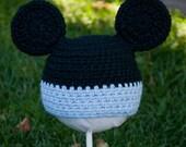 Newborn Baby Mickey Inspired Hat