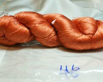 Light Tangerine Hand Dyed Japanese Silk Thread-Circa 1920