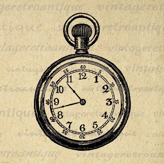 pocket watch clipart - photo #40