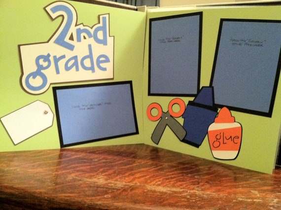2nd Grade Pre Made 12 x 12 Double Page Layout