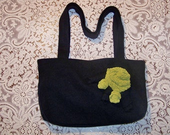 Alex - Repurposed, Upcycled Felted Wool Sweater Bag - An Original Eula Birdie Bag