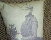 Victorian Portrait of a Lady Vampire Pillow
