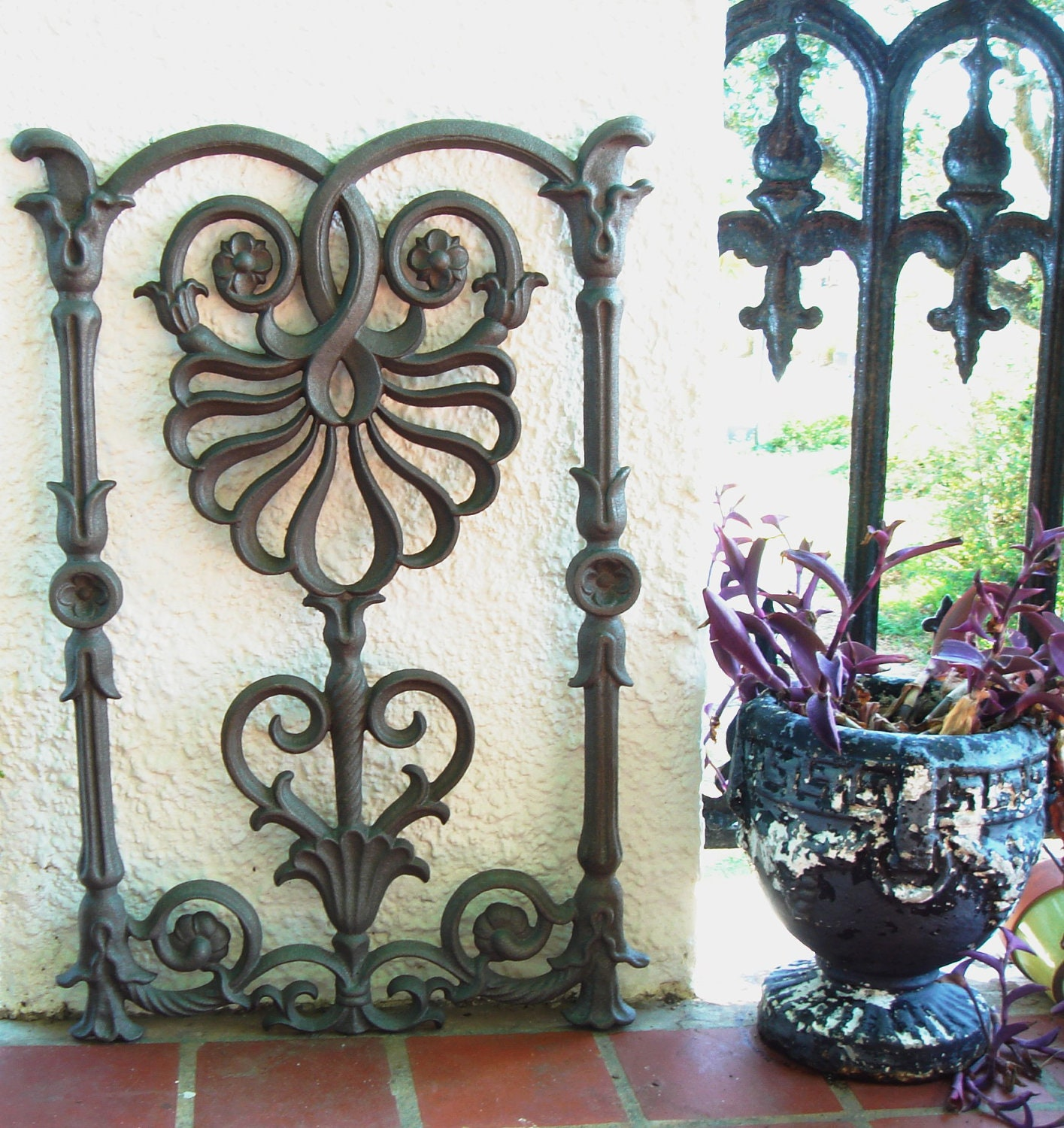 Cast Iron Flower Scroll Architectural Baluster by Theironsmith