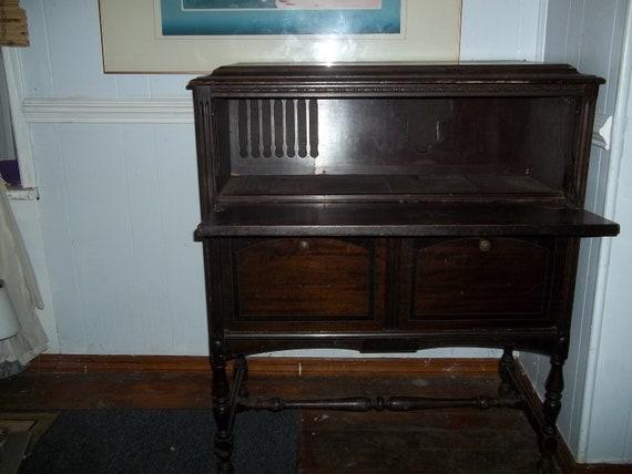 Upcycled Vintage Radio Cabinet Dry Bar