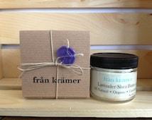Pure Shea Butter / Organic Shea Butter / Lavender Essential Oil / Hand Cream / Foot Cream / Natural / Unrefined / Lavender Cream / Purple