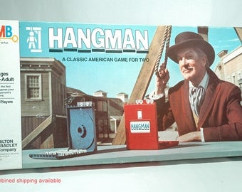 Hangman Board game from Milton Bradley 1976 COMPLETE (read description)