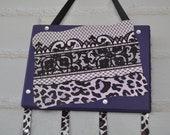 Customizable Purple Cheetah Bow holder