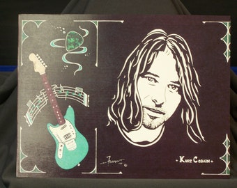 """Kurt Cobain of Nirvana is a Limited Edition Print (10""""x13"""") numbered of Original Art by Artist Charles Freeman"""